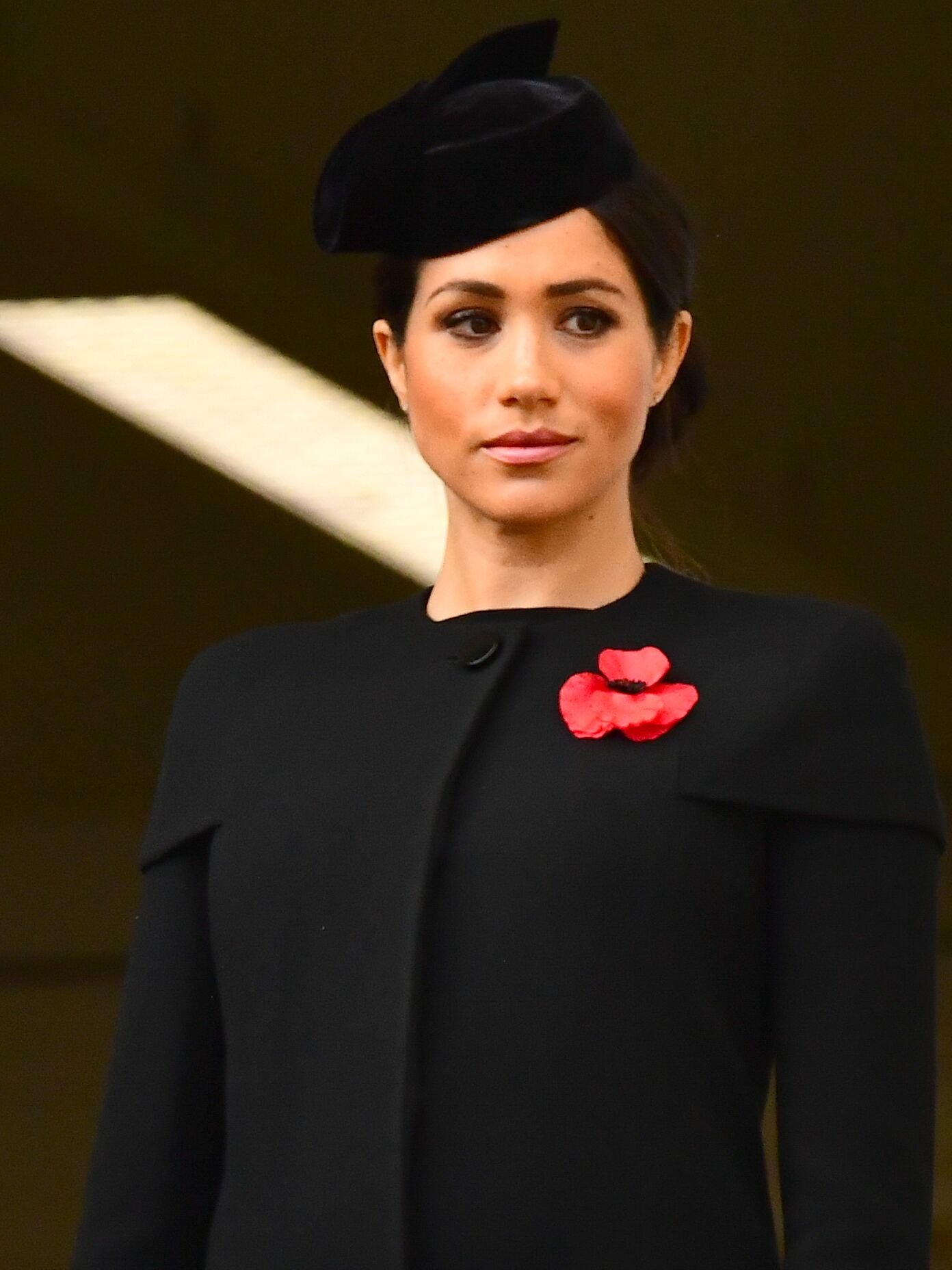 Meghan Markle attends the annual Remembrance Sunday memorial.   Source: Getty Images