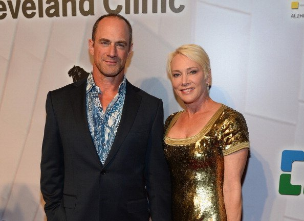 "Christopher Meloni and his wife Sherman Meloni attend the 18th annual Keep Memory Alive ""Power of Love Gala"" benefit for the Cleveland Clinic Lou Ruvo Center for Brain Health honoring Gloria Estefan and Emilio Estefan Jr. on April 26, 2014 