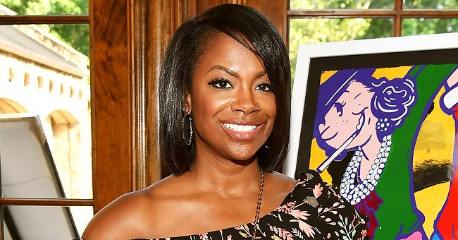 Kandi Burruss & Daughter Blaze Are Twinning in Matching Burberry Swimsuits on the Beach (Photo)