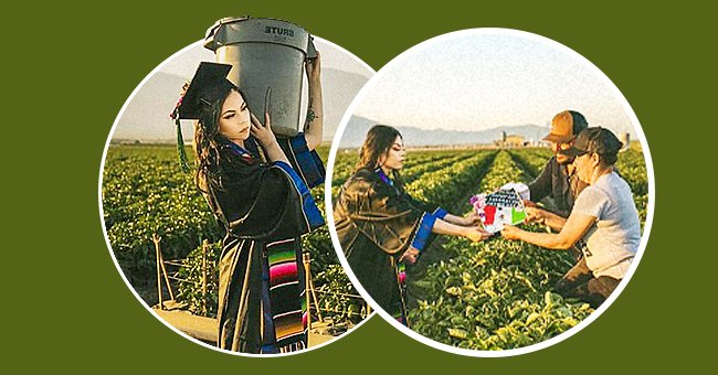 Photos of College Student Paying Tribute to Her Parents Working Hard in the Field Go Viral