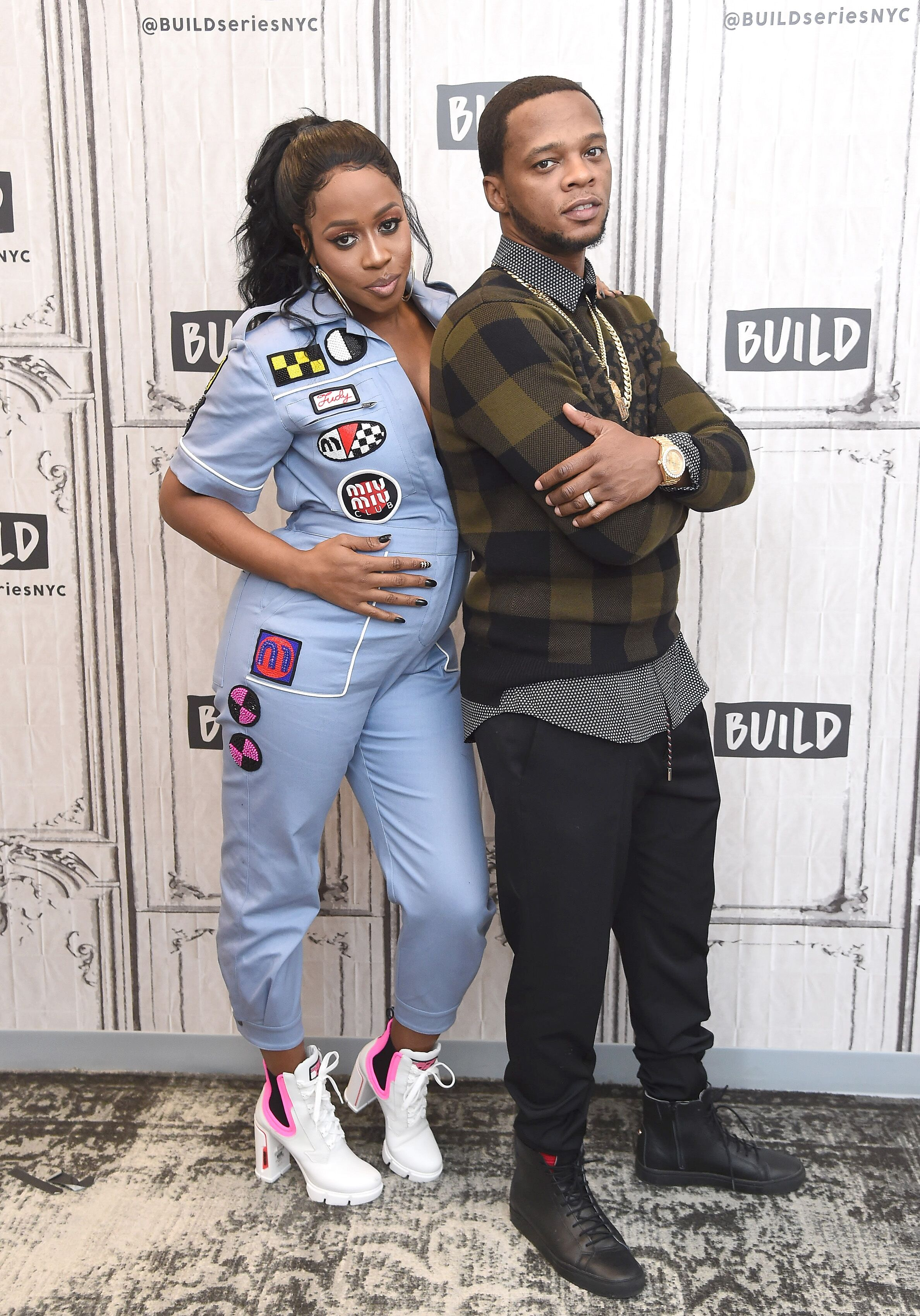 """Remy Ma (L) and Papoose visit Build Series to discuss the VH-1 reality show """"Remy & Papoose: Meet the Mackies."""" 