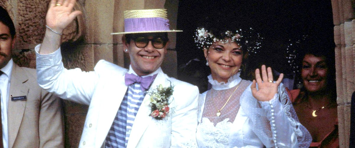 Elton John and Renate Blauel during their wedding ceremony at St Mark's Church on February 14, 1984 | Photo: Getty Images