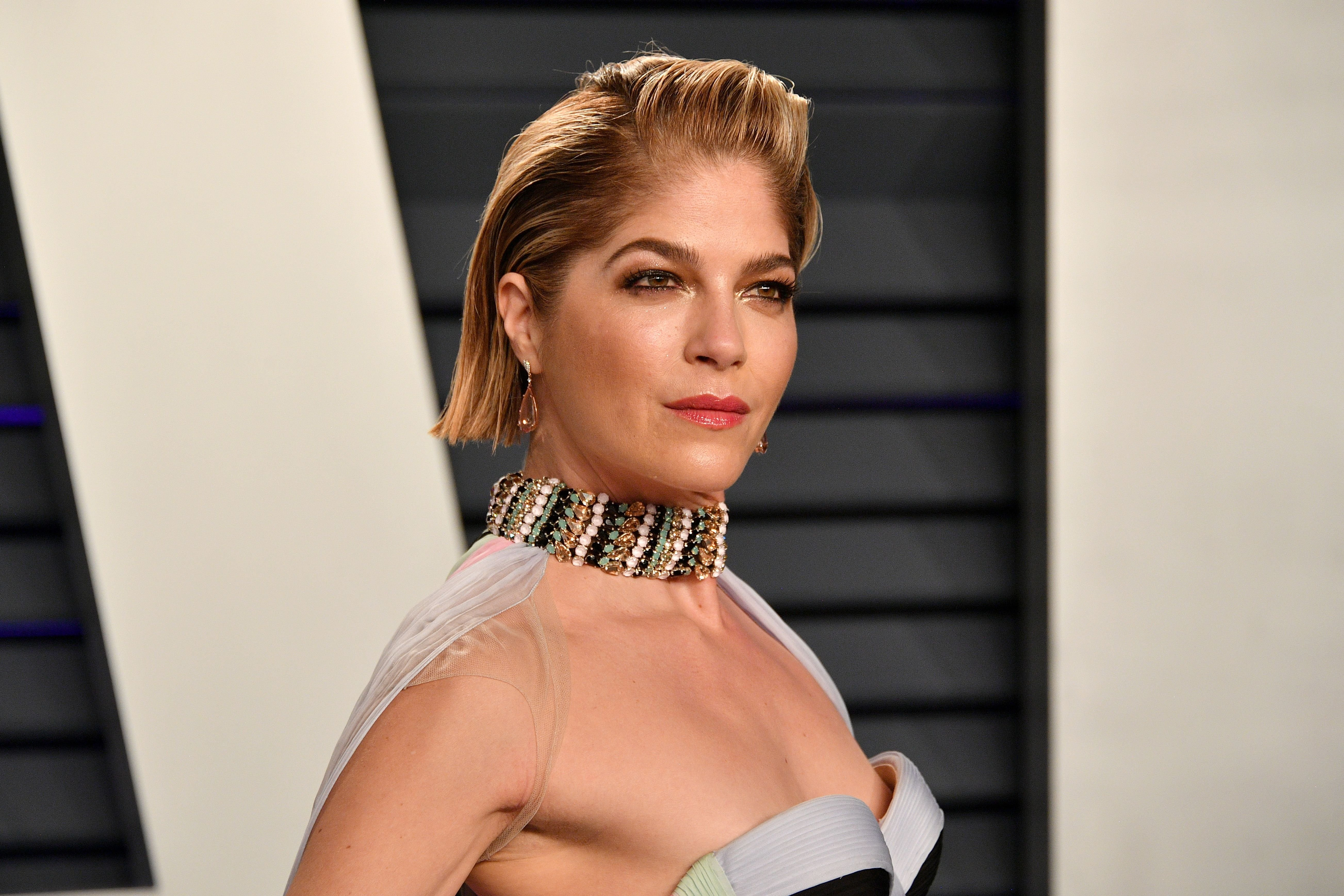 Selma Blair at the 2019 Vanity Fair Oscar Party in February 2019 in Beverly Hills | Source: Getty Images