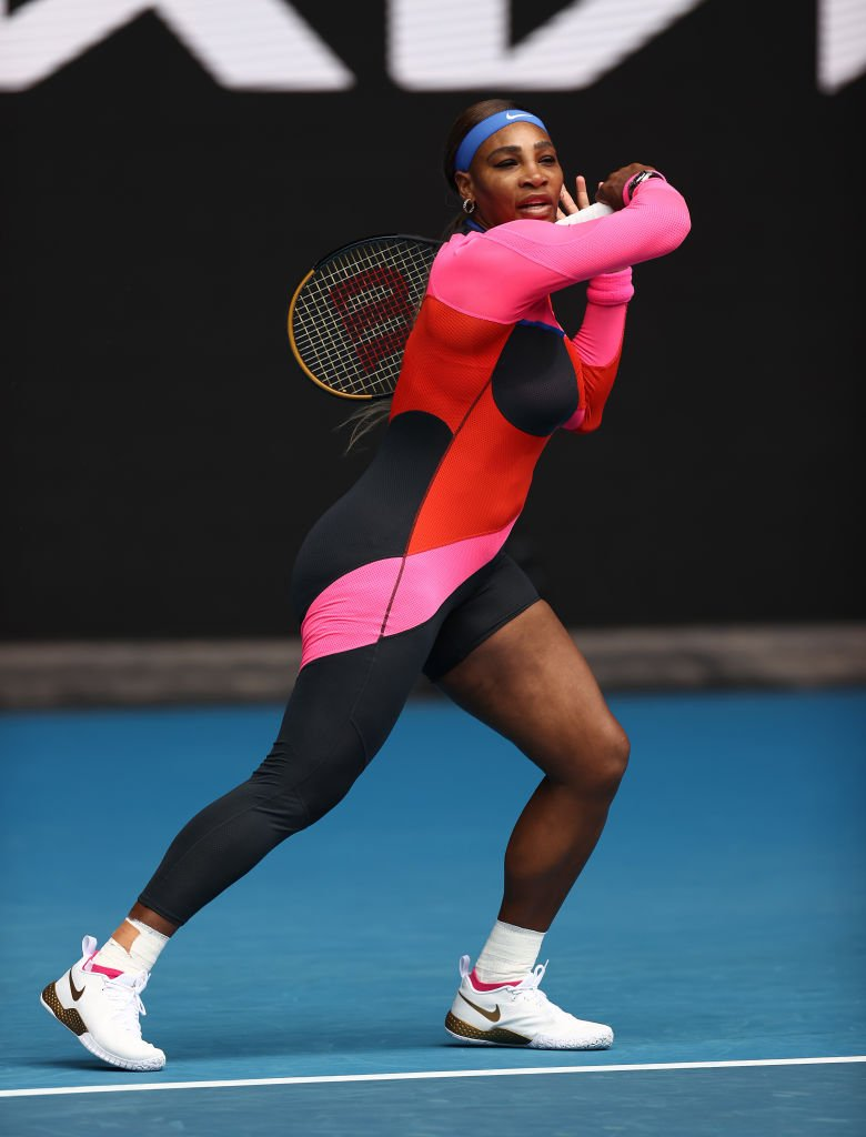 Serena Williams during her match against Laura Siegemund at the 2021 Australian Open on February 08, 2021 in Melbourne, Australia. | Source: Getty Images