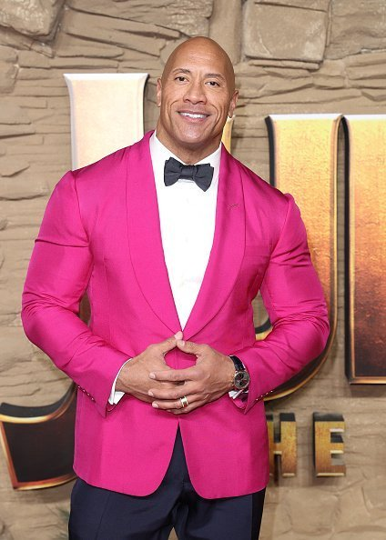 "Dwayne Johnson attends the ""Jumanji: The Next Level"" UK Film Premiere on December 05, 2019 