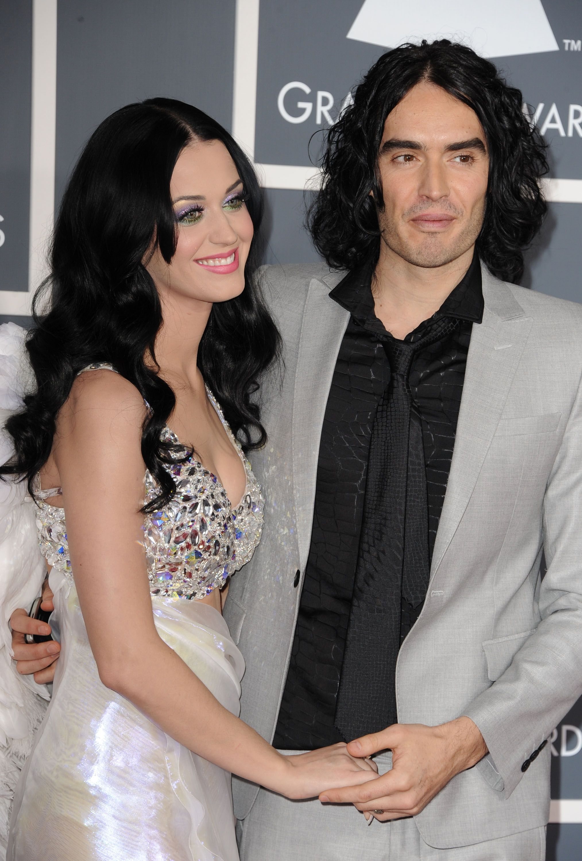 Katy Perry and Russell Brand at the 53rd Annual Grammy Awards in 2011 in Los Angeles, California   Source: Getty Images
