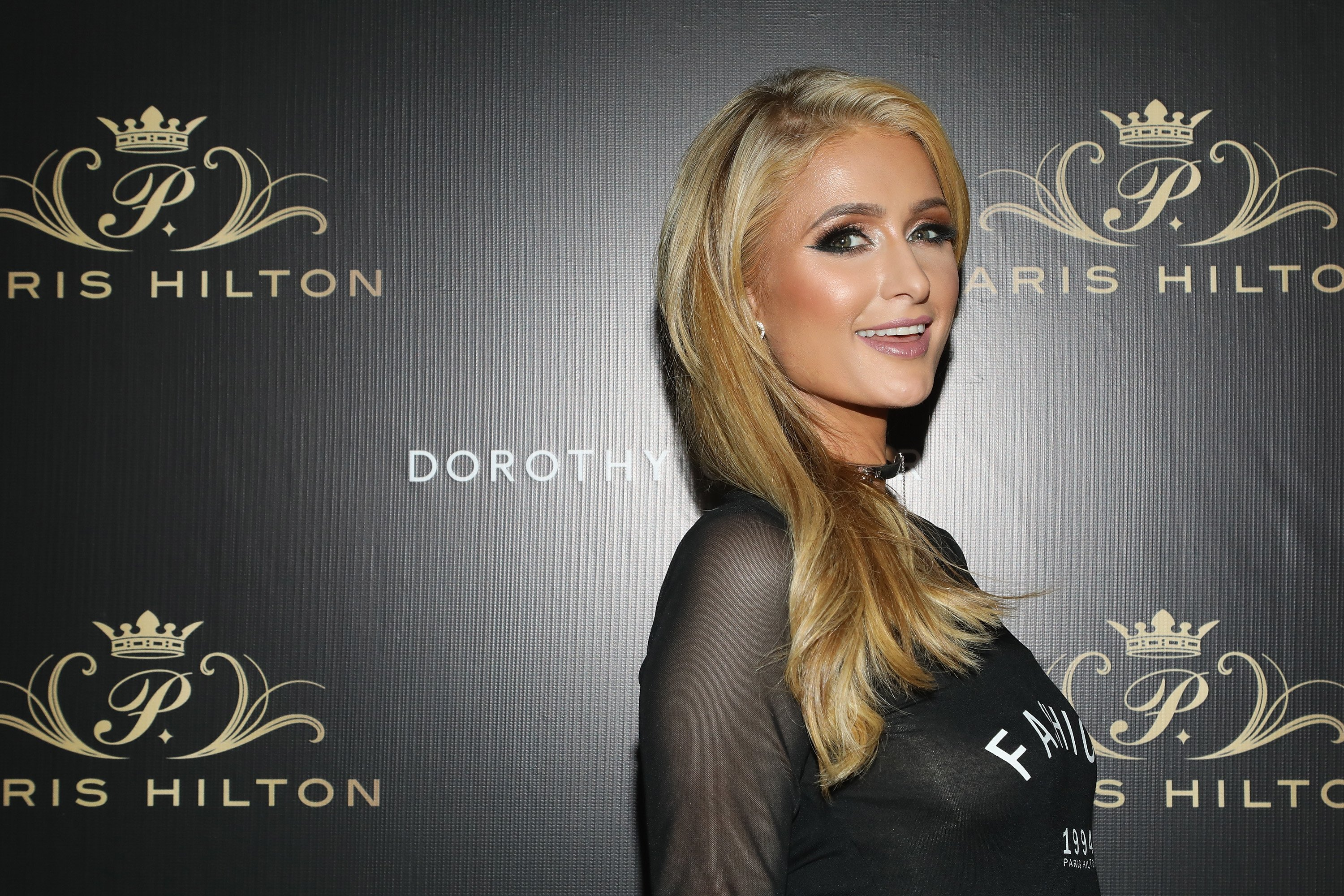 Paris Hilton attends the launch of her Dorothy Gaynor shoe line in Mexico City, Mexico on November 7, 2017 | Photo: Getty Images