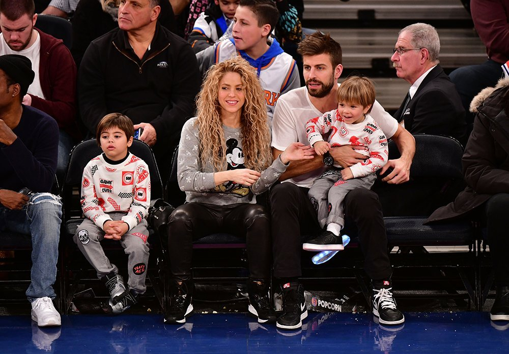 Shakira and Pique with their two sons Milan and Sasha. I Image: Getty Images.