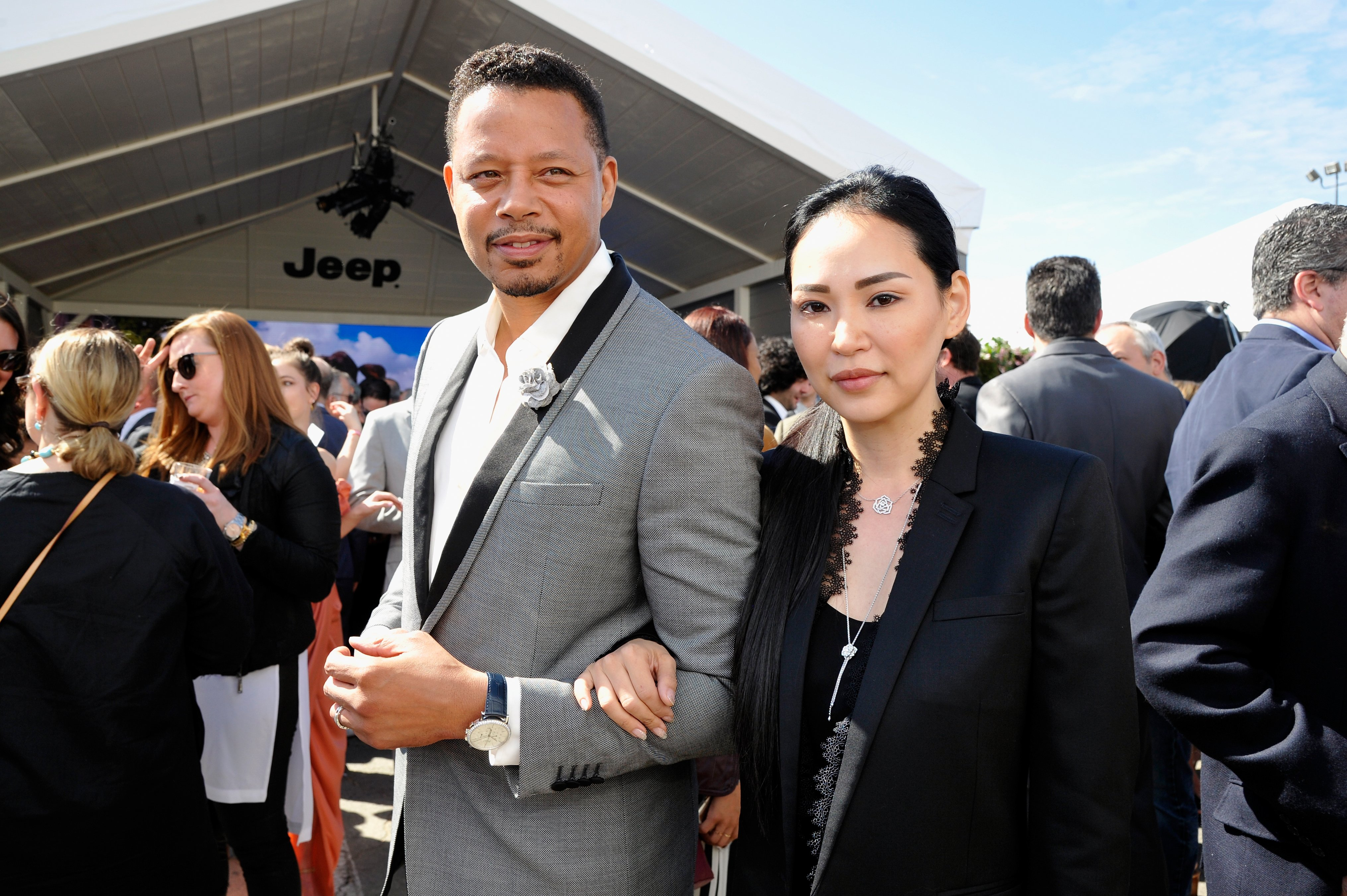 Terrence Howard and Mira Pak at the 2017 Independent Spirit Awards in Santa Monica Pier in February 2017. | Photo: Getty Images