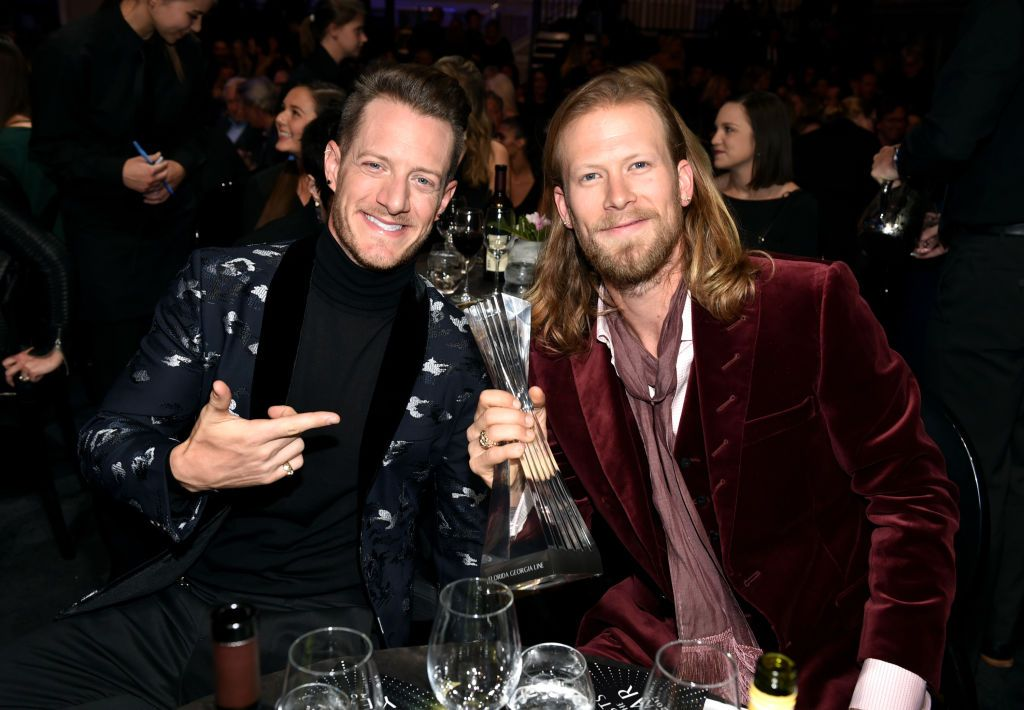 Tyler Hubbard and Brian Kelley at the 2017 CMT Artists Awards in Nashville, Tennessee | Source: Getty Images