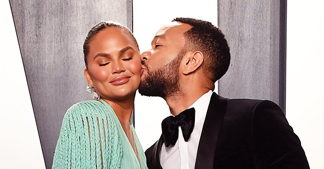 Chrissy Teigen and John Legend Share Sweet PDA Moment at 2020 Vanity Fair Oscar After-Party