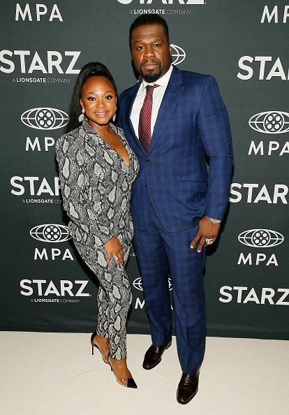 """Naturi Naughton and Curtis """"50 Cent"""" Jackson at MPA Theater on October 30, 2019 