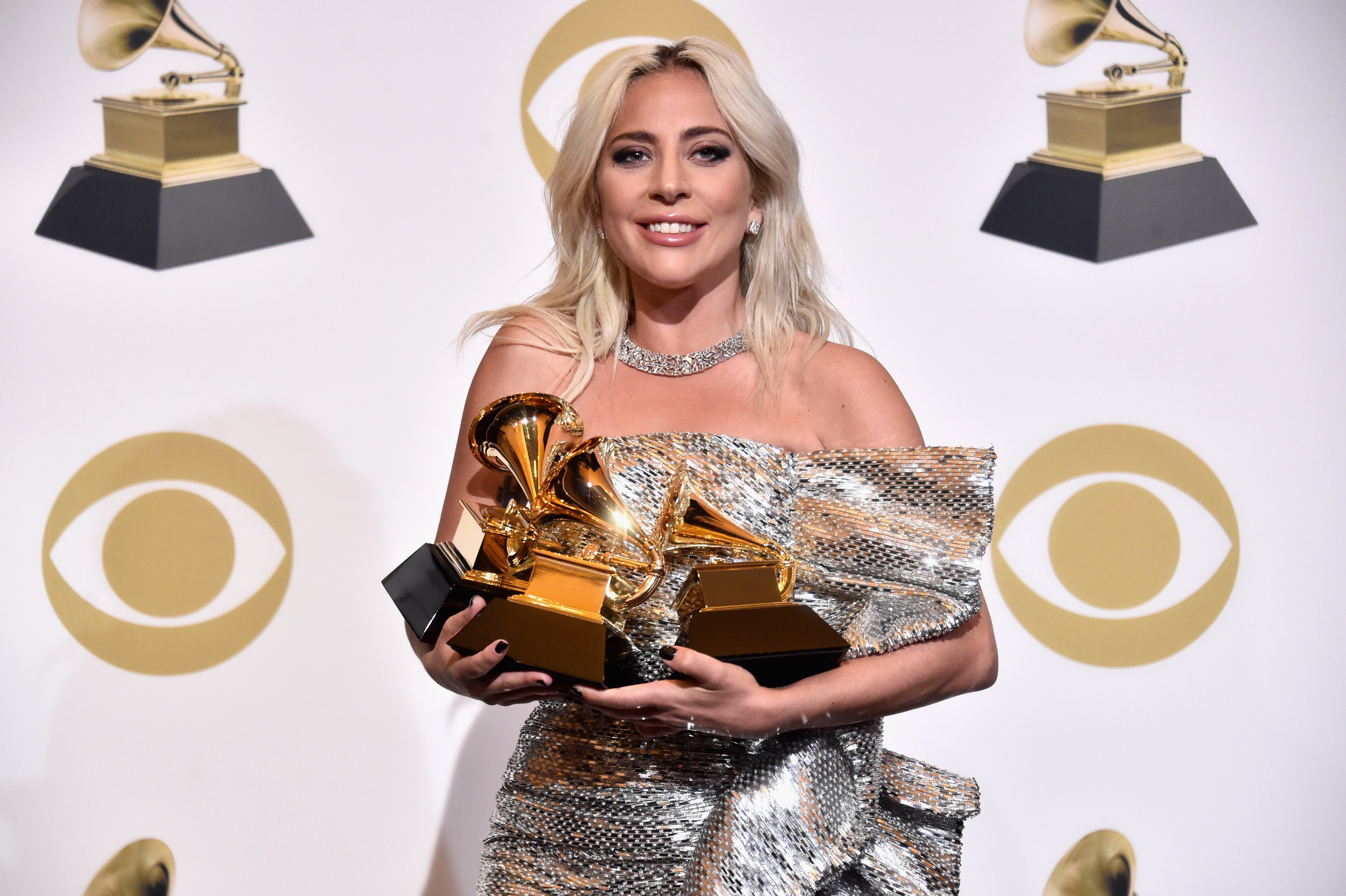 Lady Gaga poses in the press room during the 61st Annual GRAMMY Awards at Staples Center on February 10, 2019, in Los Angeles, California. | Source: Getty Images.
