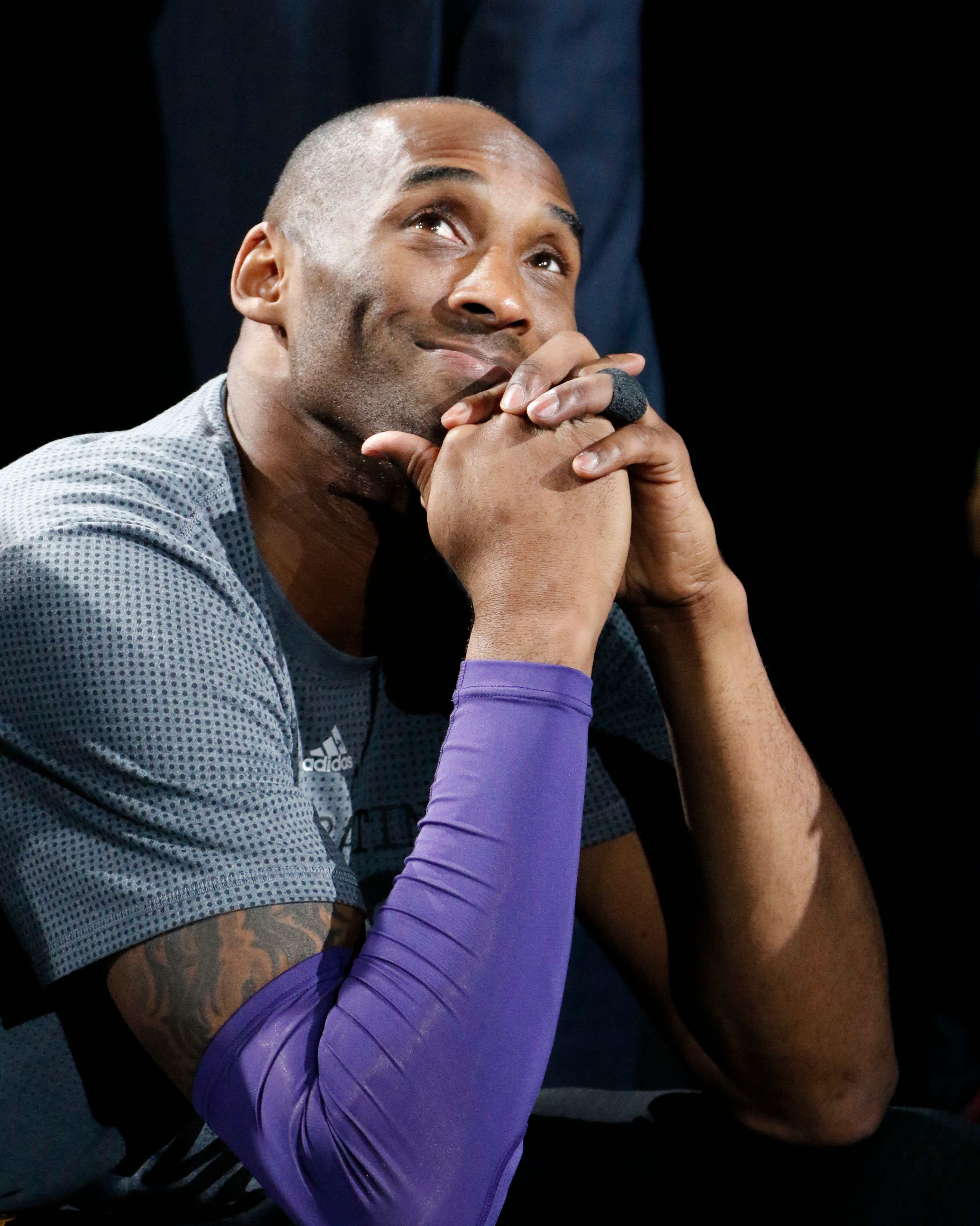 Kobe Bryant at AT&T Center on February 6, 2016 in San Antonio, Texas. | Source: Getty Images