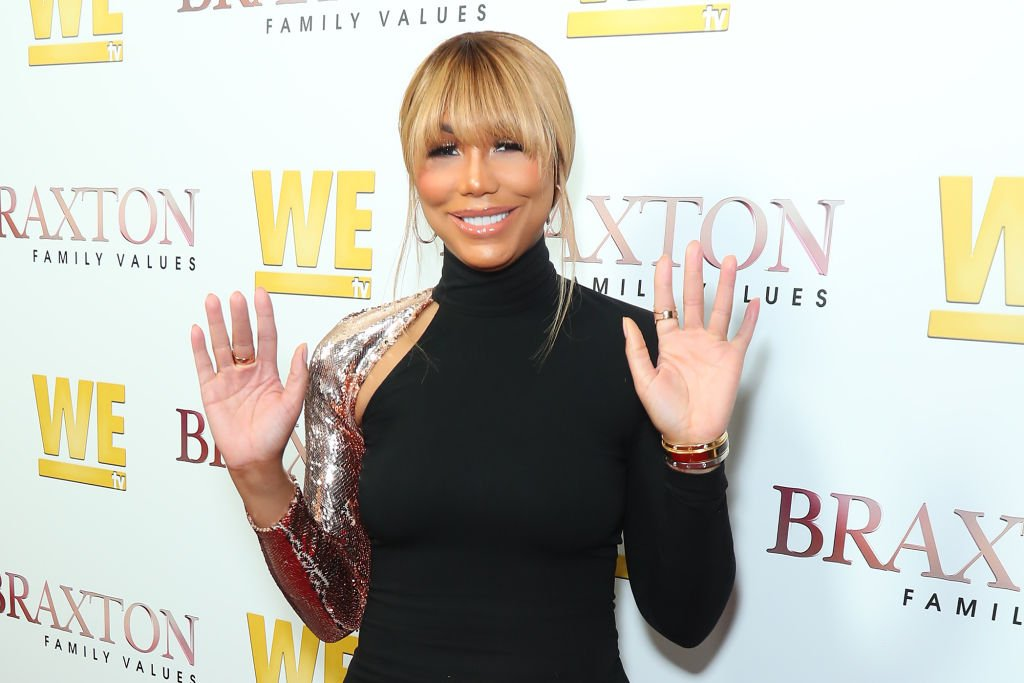 """Tamar Braxton at the  """"Braxton Family Values"""" Season 6 premiere at The Doheny Room on April 02, 2019 in West Hollywood, California.