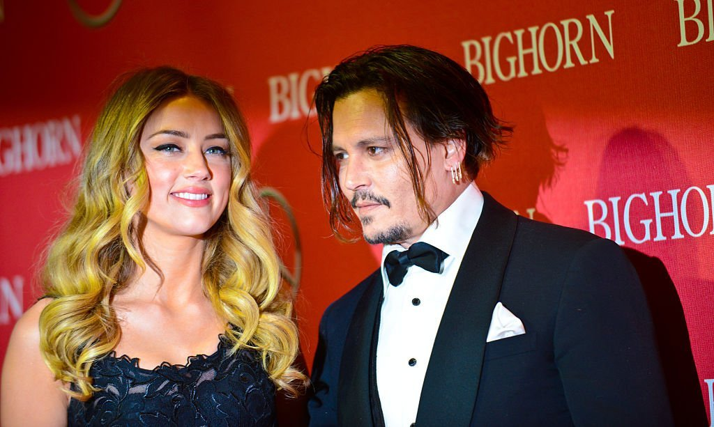 Amber Heard and Johnny Depp arrive for the 27th Annual Palm Springs International Film Festival Awards Gala held at Palm Springs Convention Center on January 2, 2016 in Palm Springs, California. | Photo: Getty Images