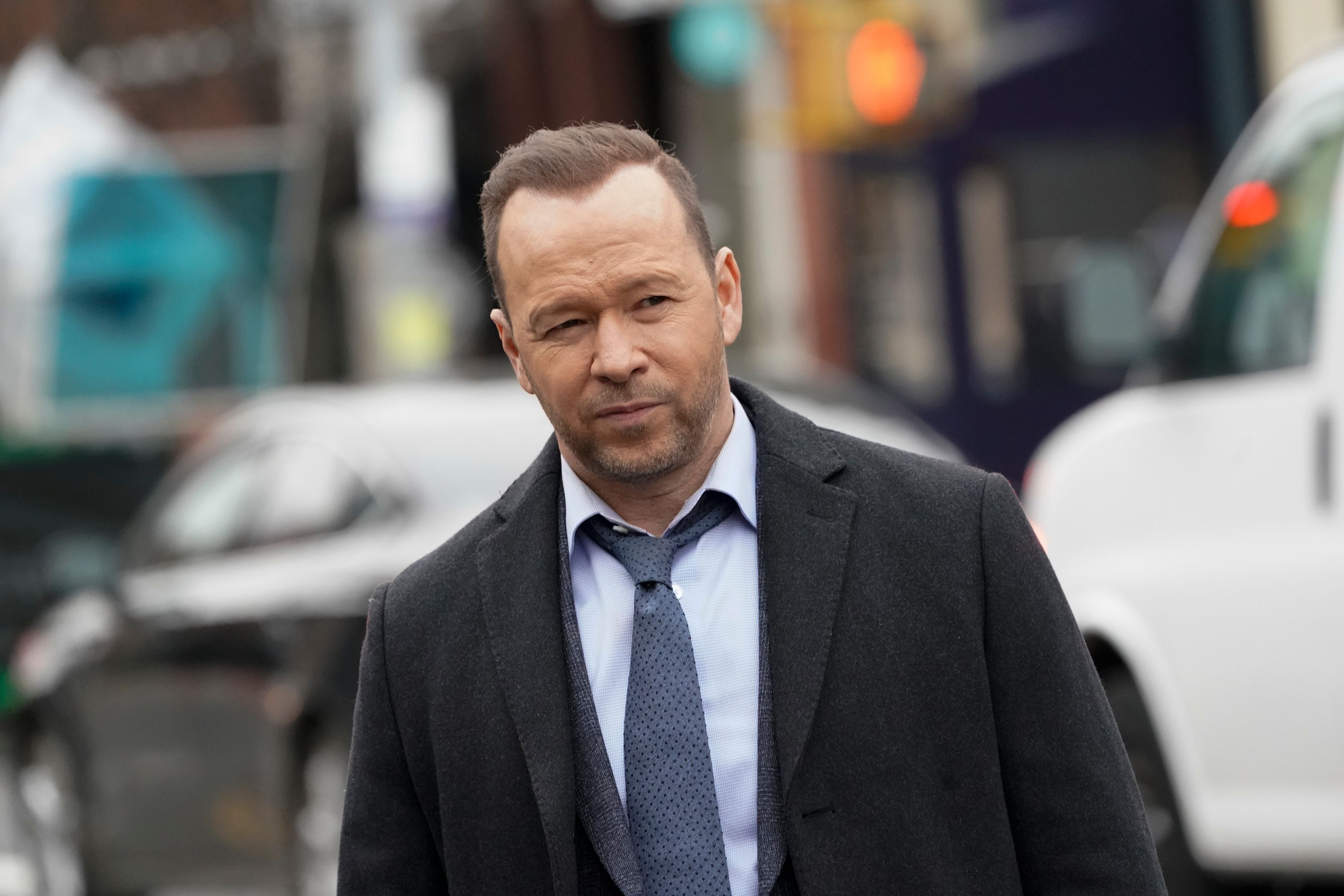 "Donnie Wahlberg on the set of ""Blue Bloods'"" ""The Puzzle Palace"" episode on February 05, 2020 