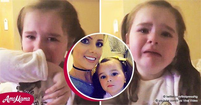 Desgarrador momento en que niña de 4 años llora cuando le dicen que pasará la Navidad sin hogar