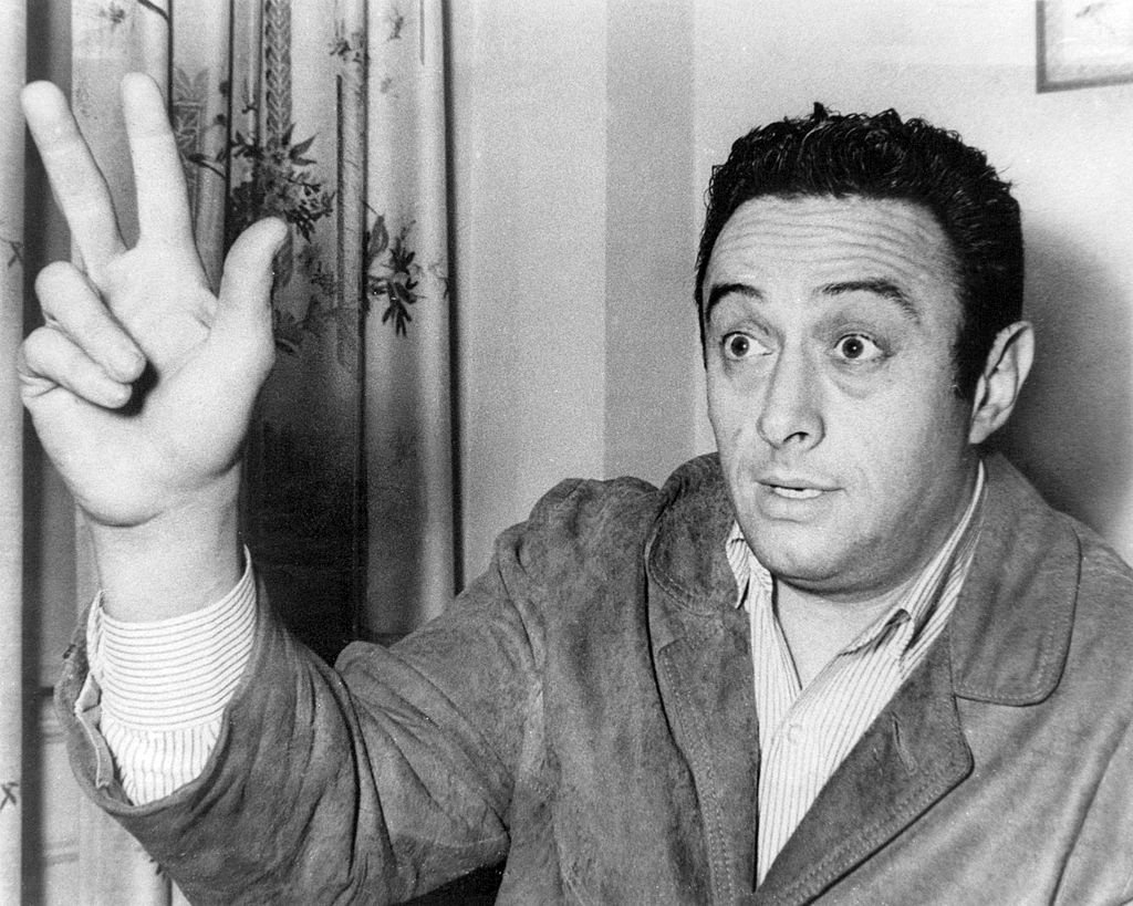 American comedian Lenny Bruce (1925 - 1966), circa 1960.   Photo: Getty Images