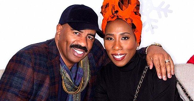 Steve Harvey Celebrates Father's Day with Twin Daughters and Talks about Being a 1st-Time Dad
