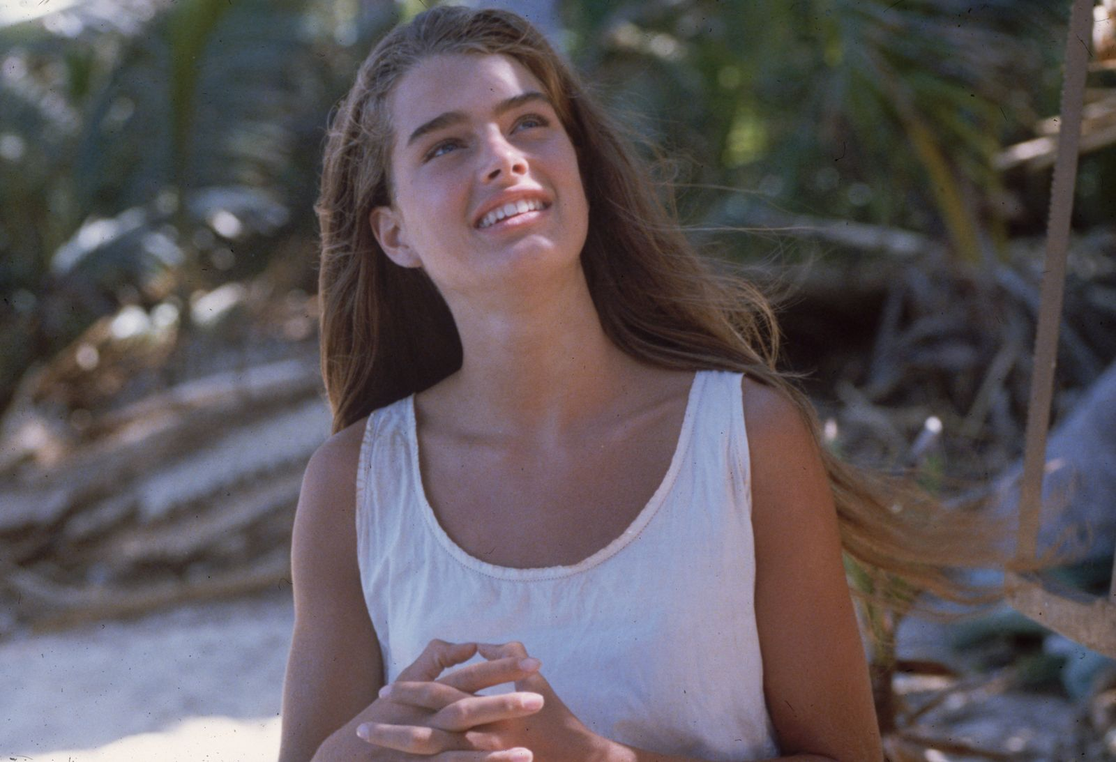 Brooke Shields plays the marooned Emmeline in the desert island adventure 'The Blue Lagoon'.   Photo: Getty Images