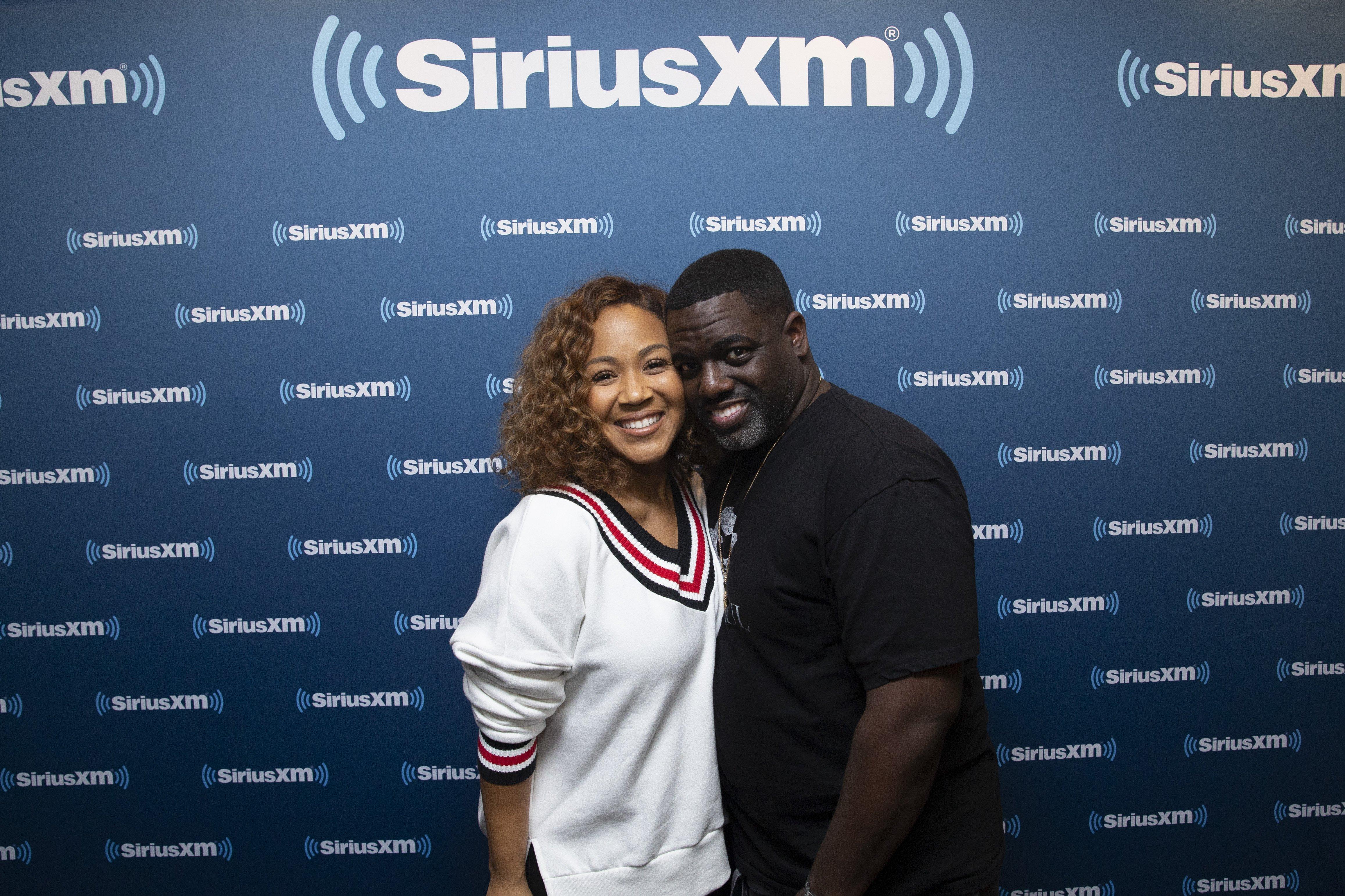 Erica & Warryn Campbell at SiriusXM Radio in Washington, DC. on Nov. 1, 2018   Photo: Getty Images
