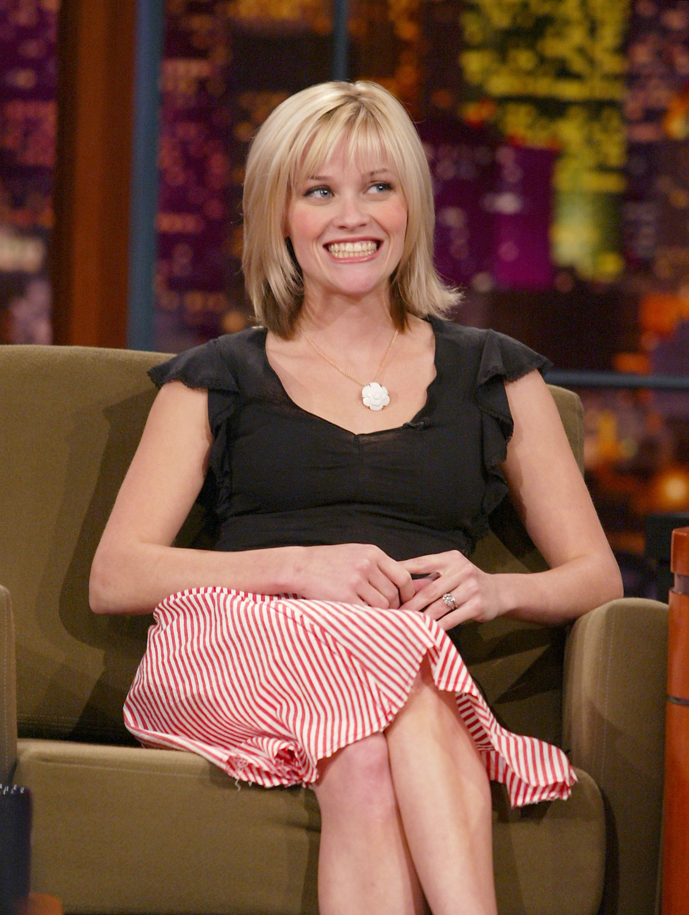 "Reese Witherspoon at ""The Tonight Show with Jay Leno"" on Wednesday, May 15, 2002. 