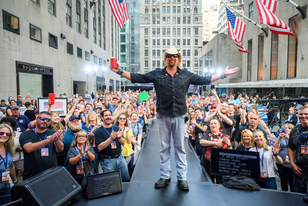 Toby Keith during a musical performance on Friday, July 5, 2019   Photo: Getty Images