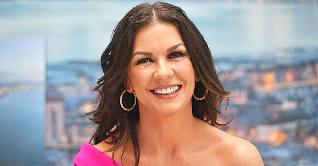 Catherine Zeta-Jones Is the Epitome of a Goddess as She Dons a Gorgeous Blue Slit Gown (Photo)