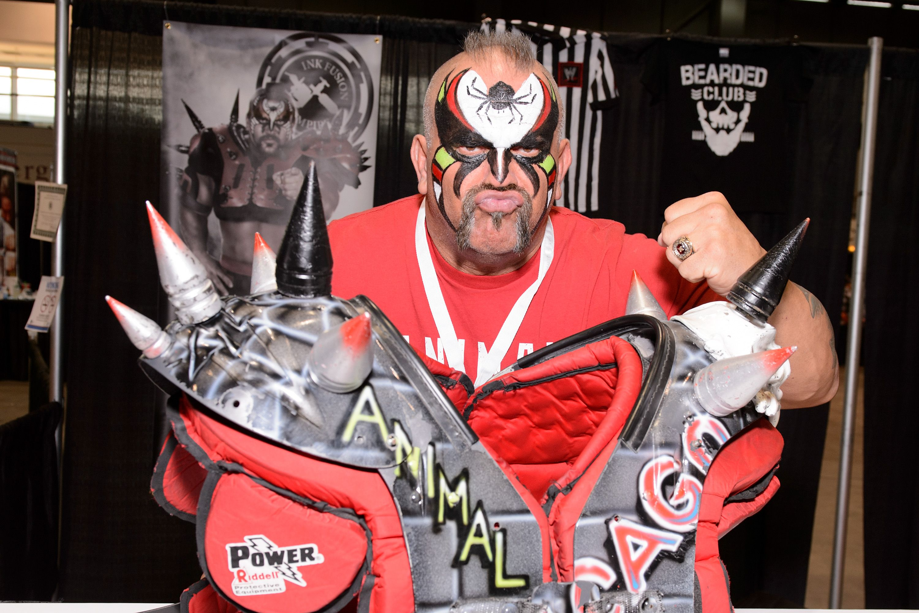Joe Laurinaitis aka Road Warrior Animal at the C2E2 Chicago Comic and Entertainment Expo at McCormick Place on April 24, 2015 | Photo: Getty Images