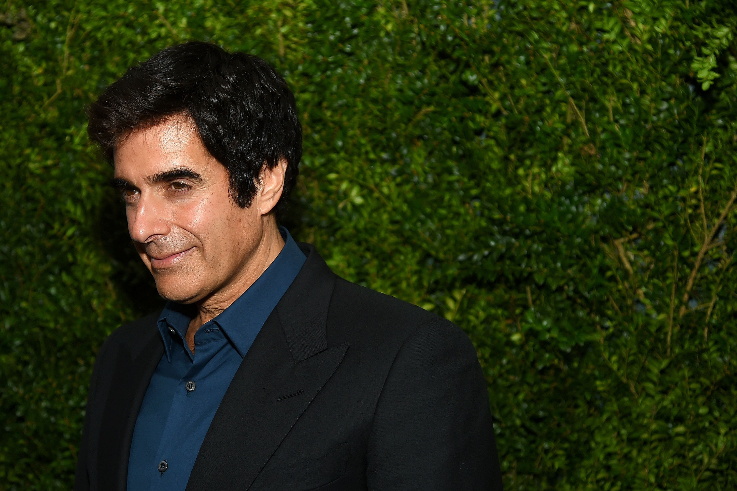 "David Copperfield pictured at the  ""Franca: Chaos and Creation"" New York Screening at Metrograph, 2016, New York City. 