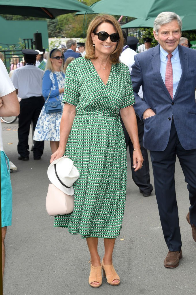 Carole Middleton attends day nine of Wimbledon at the All England Lawn Tennis and Croquet Club on July 10, 2019 | Photo: Getty Images