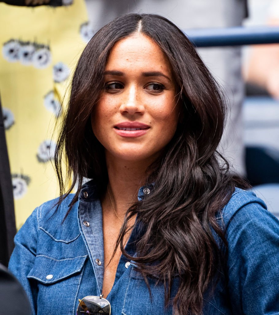 Megan Markle at 2019 U.S Open Final watching Serena Williams against Bianca Andreescu. | Source: Getty Images