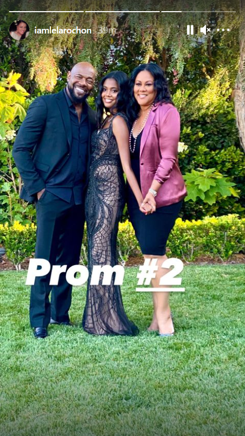 Lela Rochon and Antoine Fuqua with their daughter during her second prom | Photo: Instagram/iamlelarochon