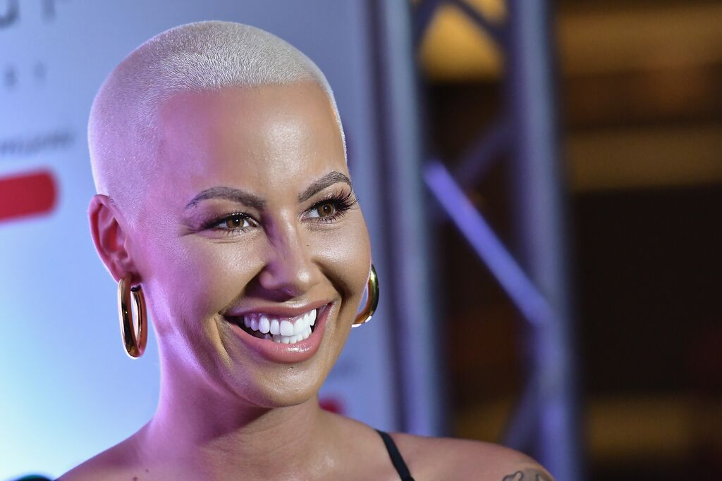 """Amber Rose at an interview on """"The Fallen State"""" with conservative Rev. Jesse Lee Peterson. Photo: Getty Images/GlobalImagesUkraine"""
