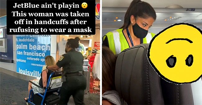 Woman Handcuffed and Taken off from JetBlue Flight for Refusing to Wear a Mask