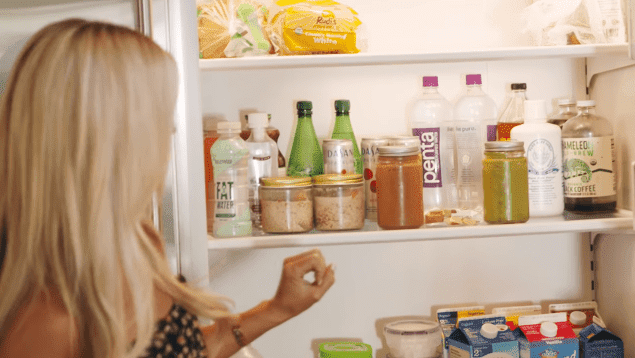 Christina Anstead's refrigerator | Source: YouTube/House Beautiful