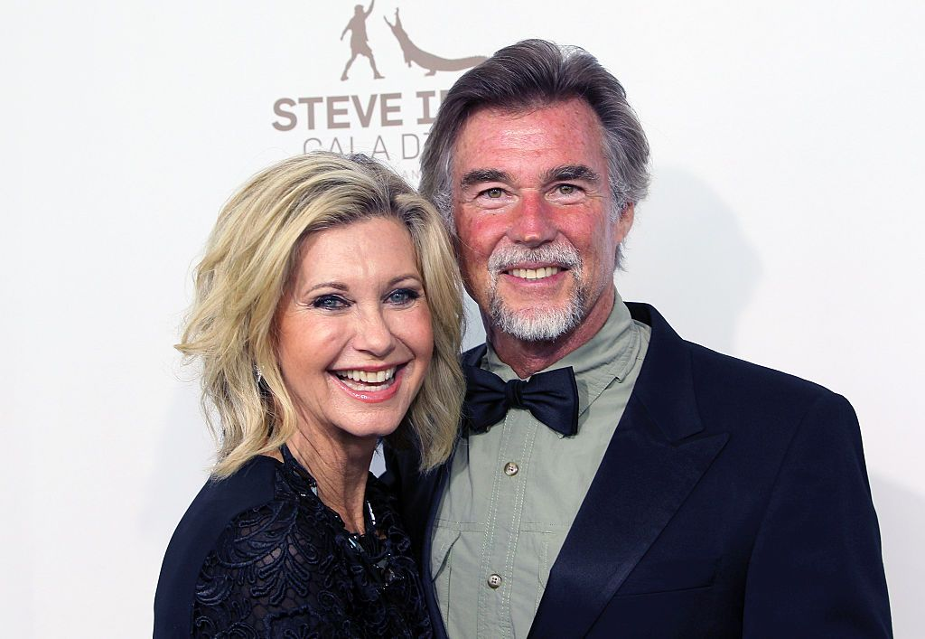 Olivia Newton-John and husband John Easterling at the Steve Irwin Gala Dinner on May 21, 2016, in Los Angeles, California   Photo: David Livingston/Getty Images