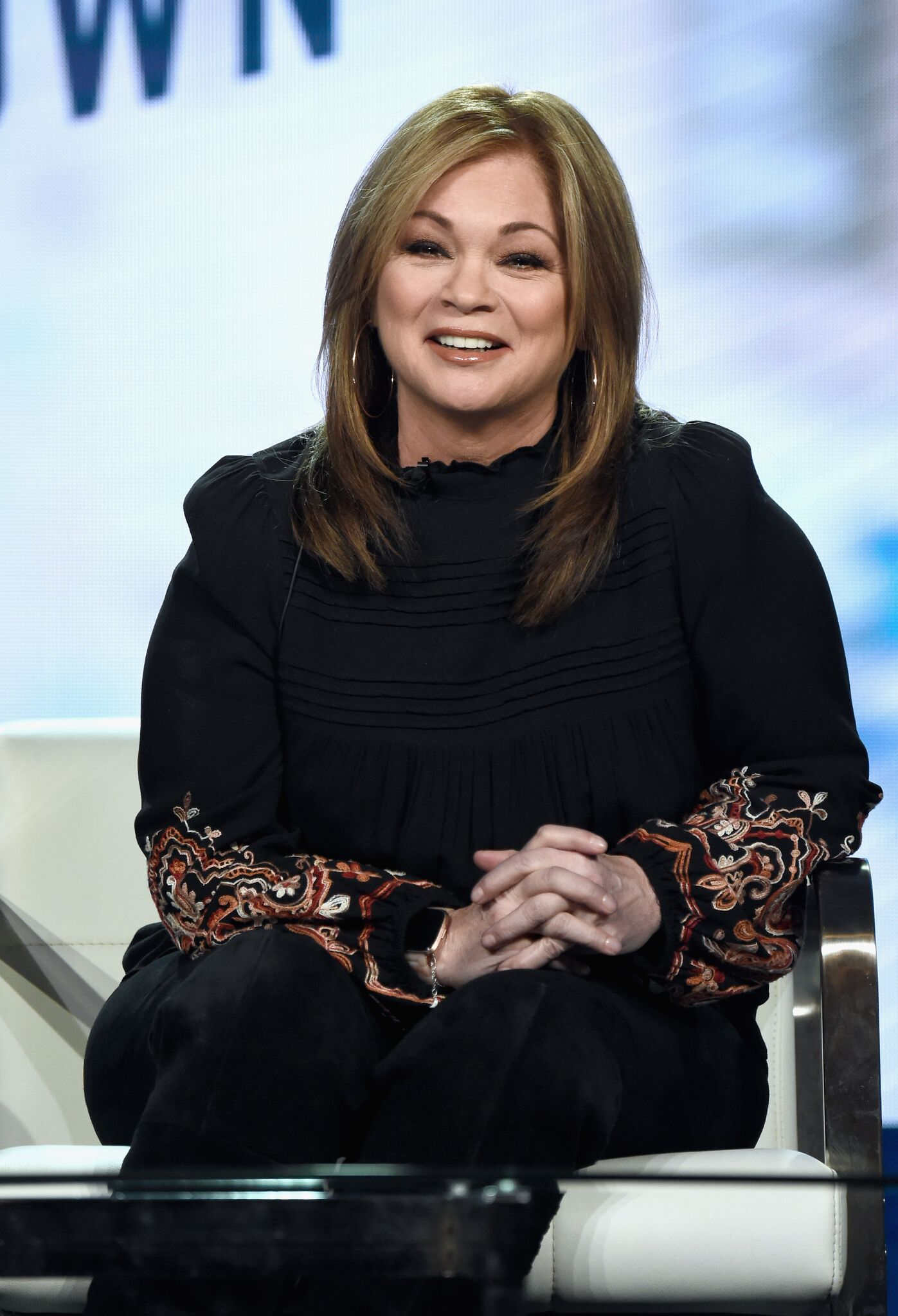Valerie Bertinelli onstage during the Food Network portion of the Discovery Communications Winter 2019 TCA Tour | Photo: Getty Images