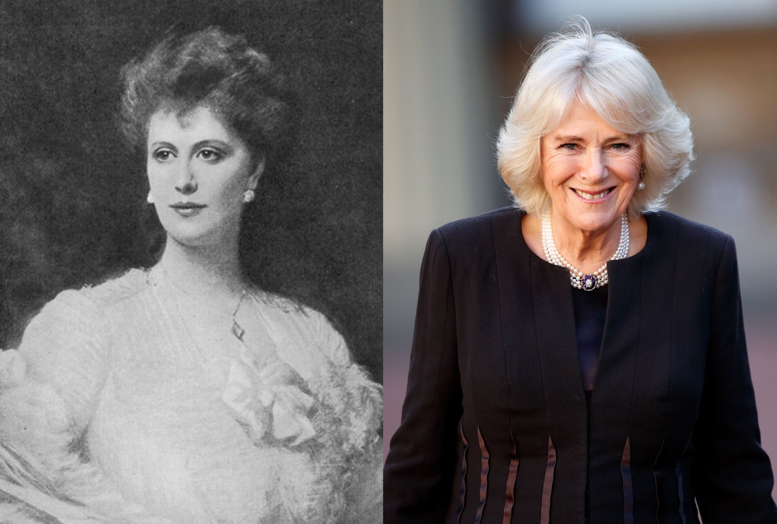 Alice Keppel and Camilla Parker Bowles. I Image: Wikimedia Commons/ Getty Images.