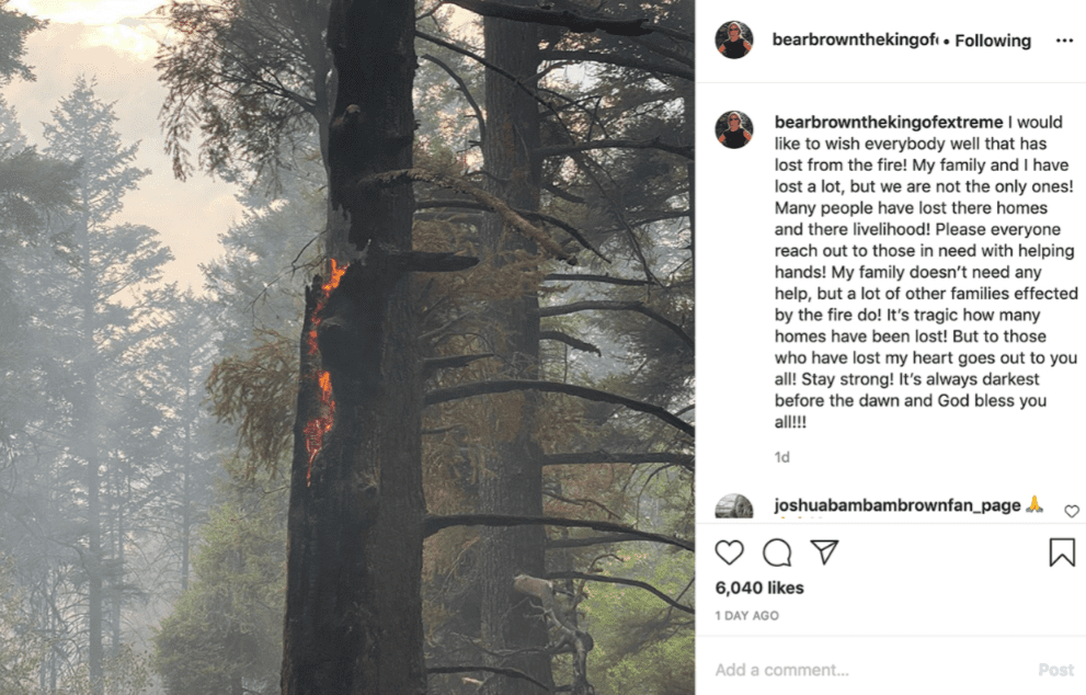 A post from Bear Brown's Instagram page in August 2020 | Photo: Instagram/ Bear Brown the King of Extreme