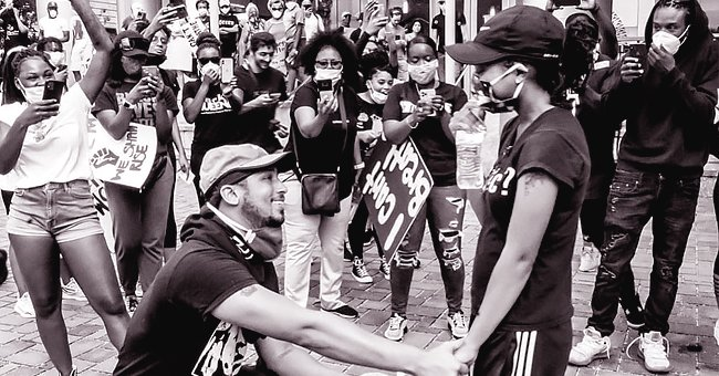 Man Proposes to His Girlfriend during Black Lives Matter Protest