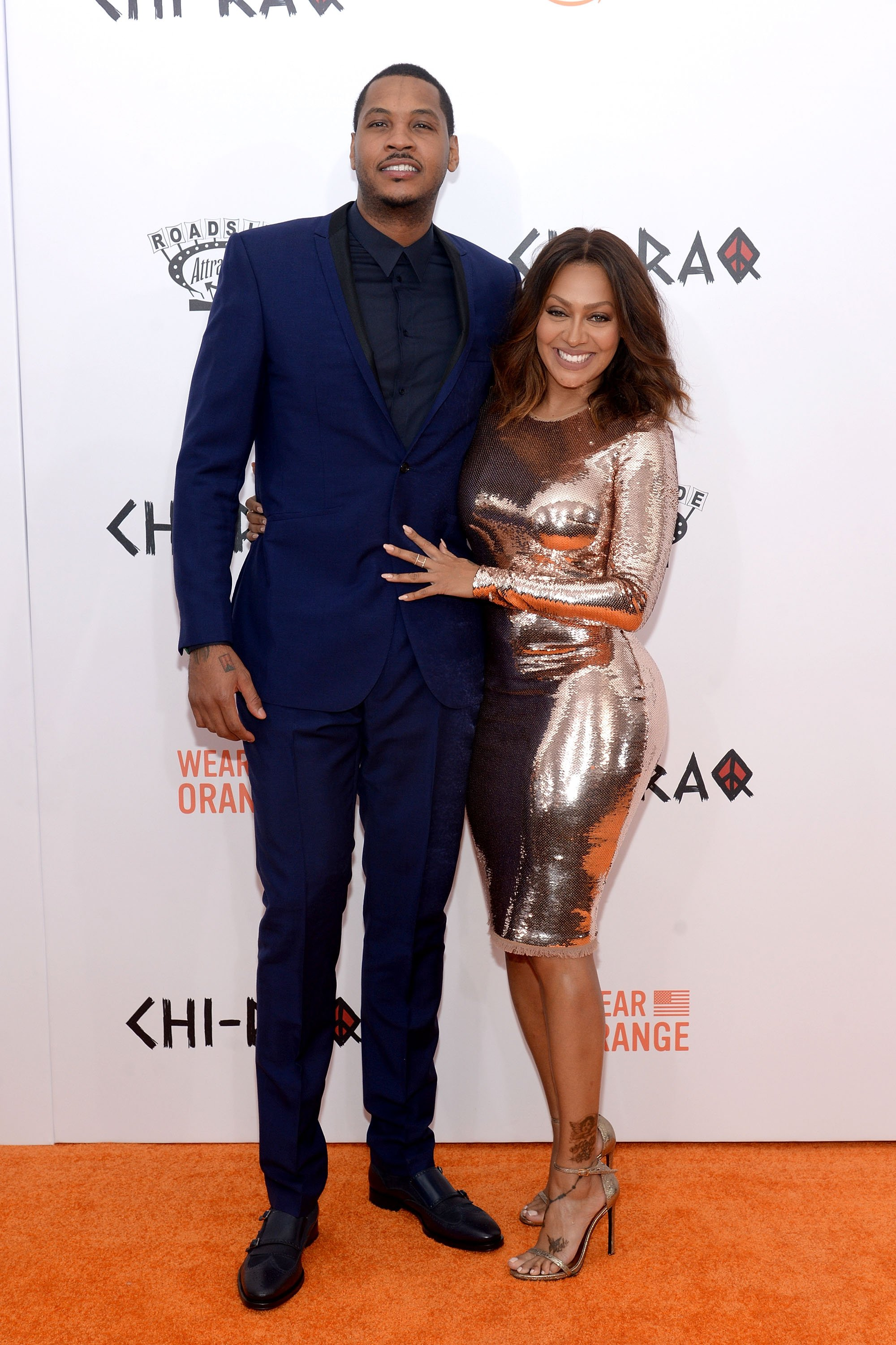 Carmelo Anthony and La La Anthony attend the 'CHI-RAQ' New York Premiere at Ziegfeld Theater on December 1, 2015. | Photo: GettyImages/Global Images of Ukraine