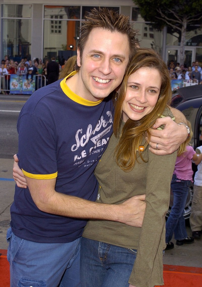 James Gunn and Jenna Fischer on March 20, 2004, in Hollywood, California | Photo: Getty Images