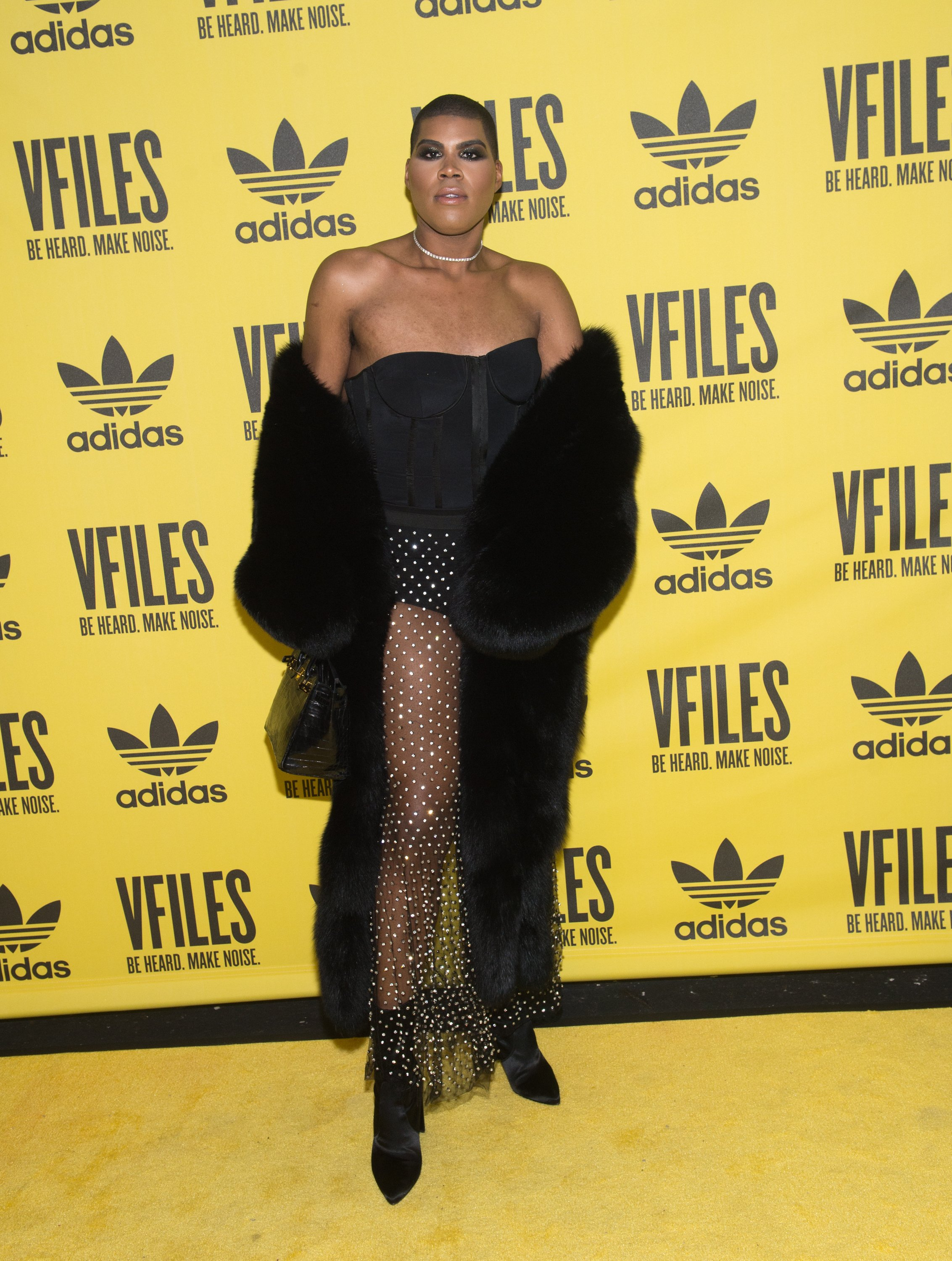 EJ Johnson attends the VFILES fashion show during New York Fashion Week on February 12, 2018 in New York City   Photo: Getty Images