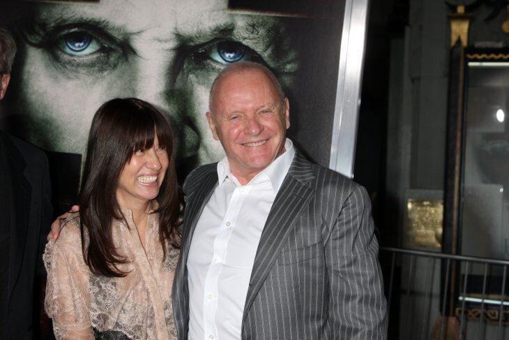 "Stella Arroyave; Anthony Hopkins arrives at ""The Rite"" Premiere at Grauman's Chinese Theater 