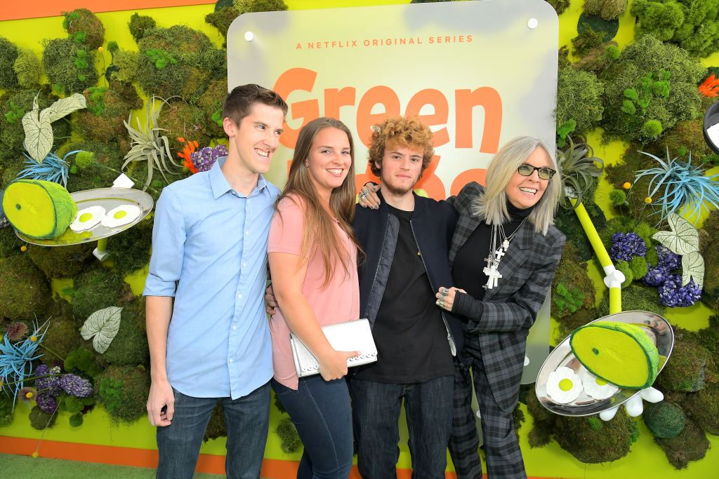Diane Keaton and family attends Netflix ''Green Eggs & Ham.'' | Source: Getty Images