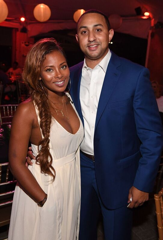 Eva Marcille and Michael T. Sterling at an event   Source: Getty Images/GlobalImagesUkraine
