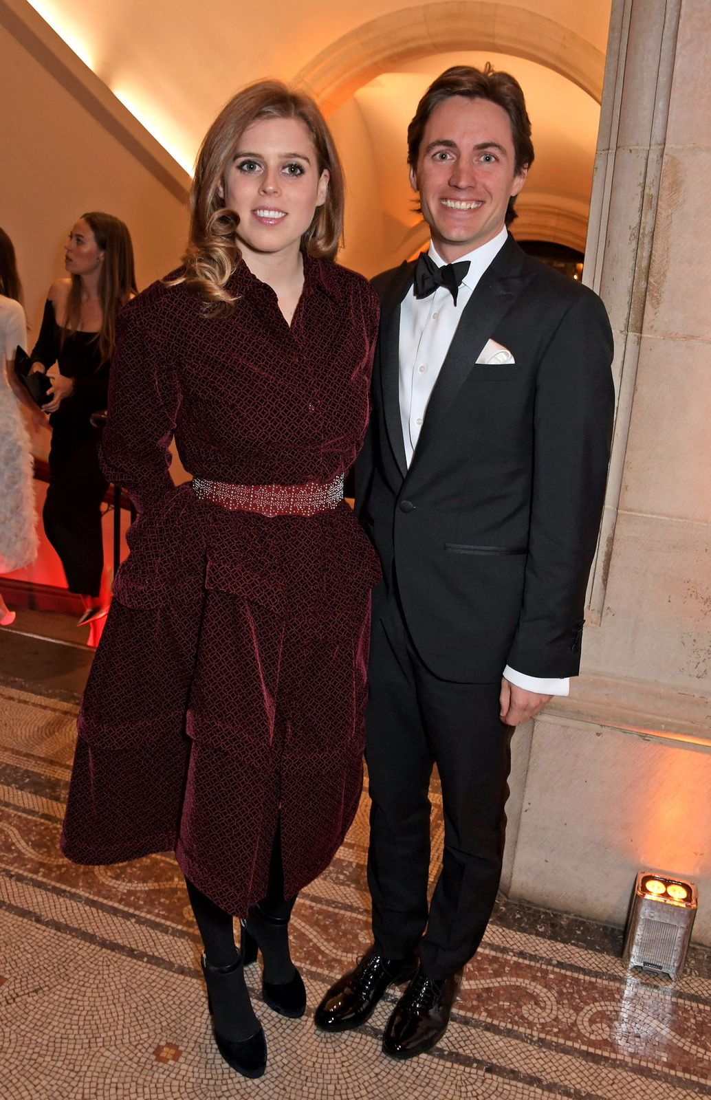 Princess Beatrice and Edoardo Mapelli Mozzi at The Portrait Gala held at the National Portrait Gallery on March 12, 2019, in London, England | Photo: David M. Benett/Dave Benett/Getty Images