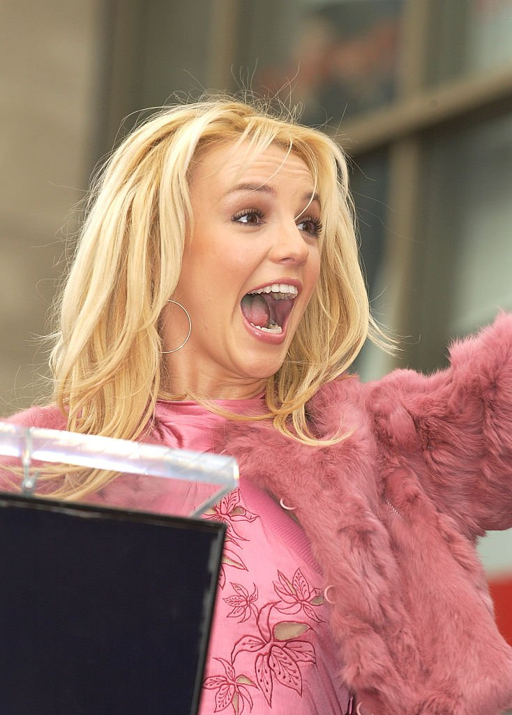 Britney Spears at the star ceremony honoring her on the Hollywood Walk of Fame, November 2003 | Source: Getty Images